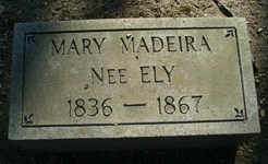 Rebecca, wife of William S Madeira's Gravestones