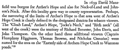 From 'Virginia Land Records, Archers-Hope and the Glebe'